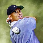 Tiger Woods Oil Painting Giclee