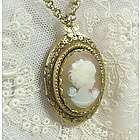 Bridal Cameo Locket Necklace
