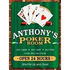 Personalized Poker Room Wall Sign