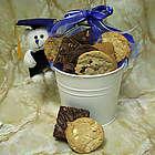 Graduation Cookies and Teddy Bear Gift Bucket