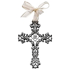 Blessings on Your Baptism Filigree Cross