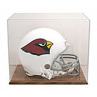 Arizona Cardinals Oak Helmet Logo Display Case