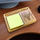 Personalized Basketball Wooden Notepad & Pen Holder