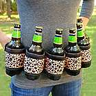 Leopard Deluxe Six-Pack Beer Belt