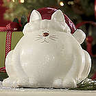 Santa Cat Figurine