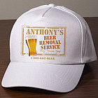 Personalized Beer Removal Service Hat
