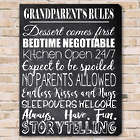 Grandparent's Rules Personalized Canvas Art Print