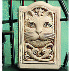 Celtic Cat Hand Cast Stone Plaque