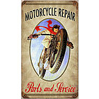 Motorcycle Repair Metal Sign