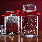 Conversation Hearts Candy Jar with Hershey's Kisses�