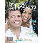 20th Anniversary Personalized Magazine Cover
