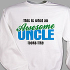 Awesome Uncle Personalized Sweatshirt
