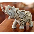 Father Elephant Soapstone Sculpture