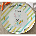Personalized Treats for the Easter Bunny Easter Plate