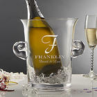 Family Monogram Personalized Ice Bucket Chiller