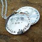 Angels Danced Hand Stamped Locket Necklace in Sterling Silver