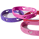 Love Cut Out Rubber Bracelet