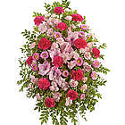 Pink Tribute Standing Sympathy Spray