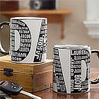 Dad's Repeating Names Personalized Coffee Mug