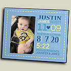 Personalized Boy Birth Announcement Printed Frame