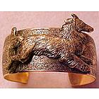 Collie Sheltie Cuff Bracelet