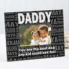 Repeating Names Personalized Picture Frame for Him