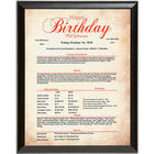 Personalized Birthday History Plaque