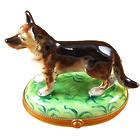German Shepherd Limoges Box