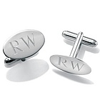 Sterling Silver Personalized Cuff Links