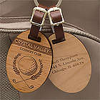 Classic Golfer Engraved Wood Golf Bag Tag
