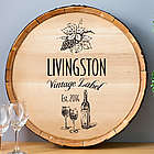 Personalized Vintage Label Wine Barrel Sign