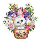 Always in Bloom Kitty Cat Table Centerpiece