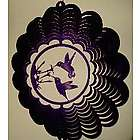 "12"" Double Hummingbird Purple Wind Spinner"