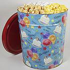 Happy Birthday Popcorn Tin