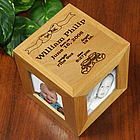 In the Beginning Personalized Baby Photo Cube