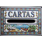 Handmade Ceramic Cartas Mailbox Tile