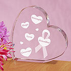 Engraved Breast Cancer Awareness Heart Keepsake