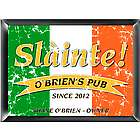 Personalized Pride of the Irish Pub Sign Framed Print