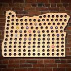 Giant XL Oregon Beer Cap Map