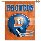Denver Broncos Throwback Helmet Vertical Flag Banner