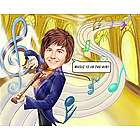 The Musical Violin Caricature from Photos Art Print