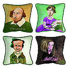 Decorative Literary Caricature Pillow