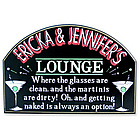 Martini Lounge Personalized Sign