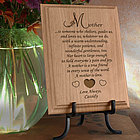 Personalized What It Means To Be a Mother Wooden Plaque