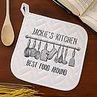 Seasoned with Love Personalized Potholder