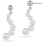 Pearl Earrings in 14K White Gold