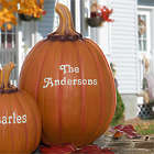 Our Family Patch Large Personalized Pumpkin