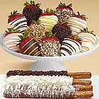 Caramel Pretzels and Chocolate Strawberry Medley Gift Box