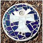 Angel Stained Glass Stepping Stone