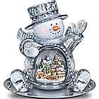 Let It Snow Crystal Snowman Sculpture